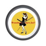 BRUNETTES HAVE MORE FUN Wall Clock