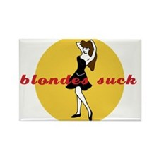 BLONDES SUCK Rectangle Magnet (10 pack)