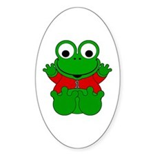 One Year Old Frog Oval Decal