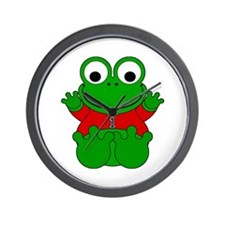 One Year Old Frog Wall Clock