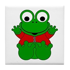 One Year Old Frog Tile Coaster