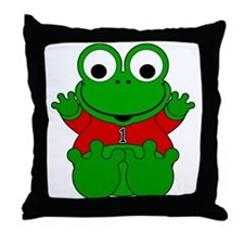 One Year Old Frog Throw Pillow