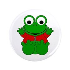 """One Year Old Frog 3.5"""" Button"""
