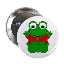 """One Year Old Frog 2.25"""" Button"""
