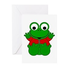 One Year Old Frog Greeting Cards (Pk of 20)