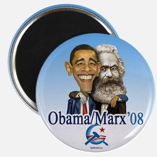 """Obama/Marx 08 2.25"""" Magnet (10 pack)"""