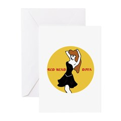 RED HEAD DIVA Greeting Cards (Pk of 20)