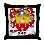 Faber Family Crest Throw Pillow