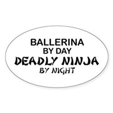Ballerinia Deadly Ninja Oval Decal