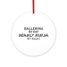 Ballerinia Deadly Ninja Ornament (Round)