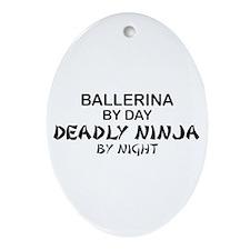 Ballerinia Deadly Ninja Oval Ornament