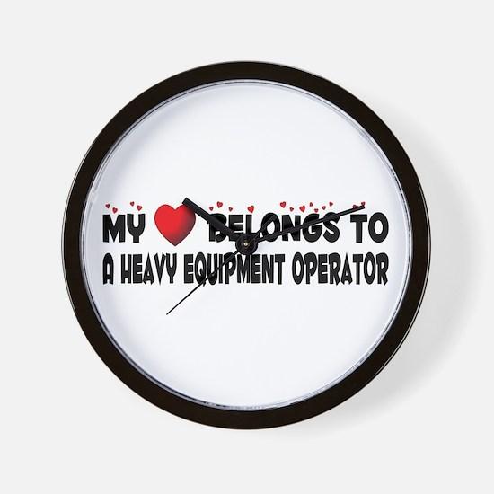 Belongs To A Heavy Equipment Operator Wall Clock