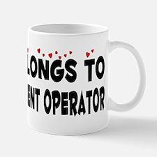 Belongs To A Heavy Equipment Operator Mug