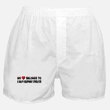 Belongs To A Heavy Equipment Operator Boxer Shorts