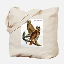 Audubon Great Horned Owls Tote Bag
