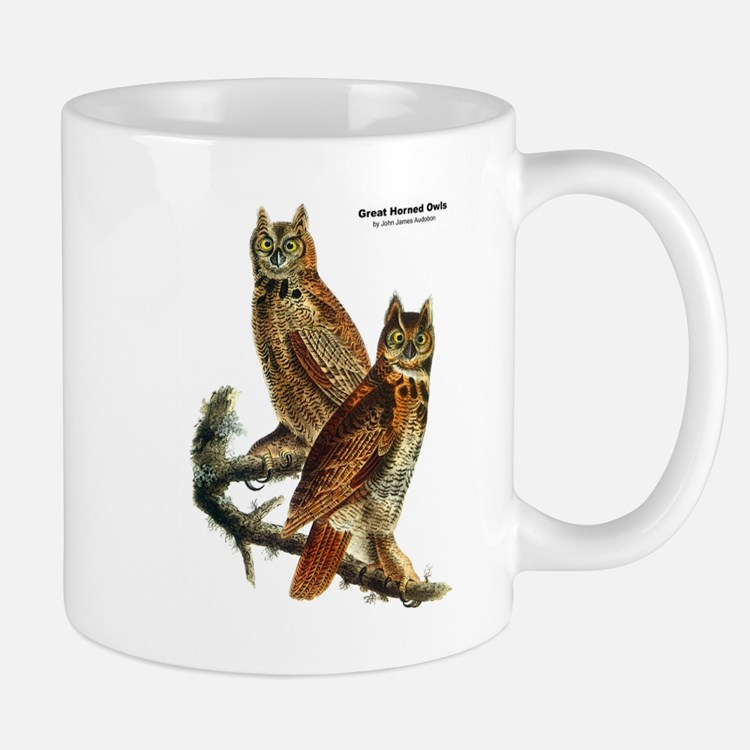 Audubon Great Horned Owls Mug