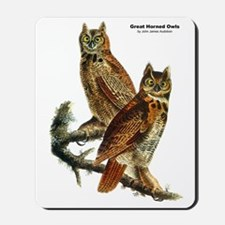 Audubon Great Horned Owls Mousepad