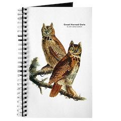 Audubon Great Horned Owls Journal