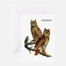 Audubon Great Horned Owls Greeting Card