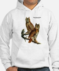Audubon Great Horned Owls (Front) Hoodie