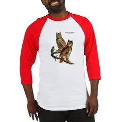 Audubon Great Horned Owls Baseball Jersey