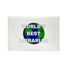 World's Best Librarian Rectangle Magnet