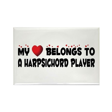 Belongs To A Harpsichord Player Rectangle Magnet (