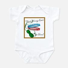 Loom for More Black Text Infant Bodysuit