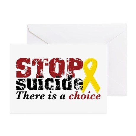 STOP suicide choice Greeting Cards (Pk of 10)