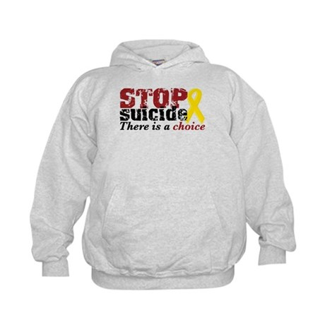 STOP suicide choice Kids Hoodie