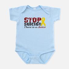 STOP suicide choice Infant Bodysuit