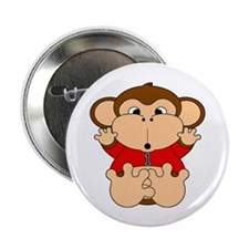 """One Year Old Monkey 2.25"""" Button (100 pack)"""