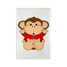 One Year Old Monkey Rectangle Magnet