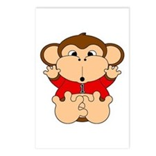 One Year Old Monkey Postcards (Package of 8)