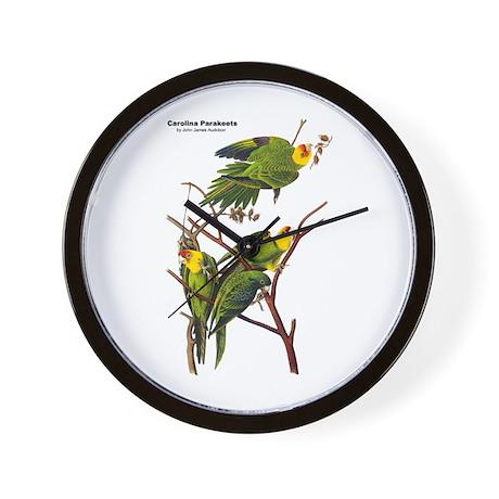 Audubon Carolina Parakeet Birds Wall Clock
