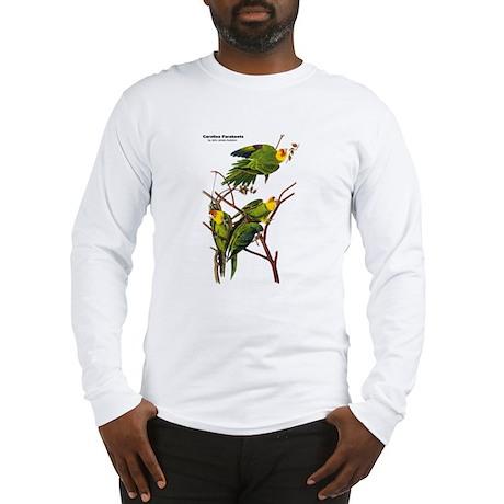 Audubon Carolina Parakeet Birds Long Sleeve T-Shir