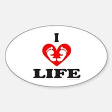 PRO-LIFE/RIGHT TO LIFE Oval Decal