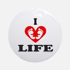PRO-LIFE/RIGHT TO LIFE Ornament (Round)