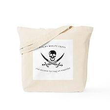 Midlife Pirate Tote Bag