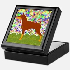 Red & Tan Doberman Keepsake Box
