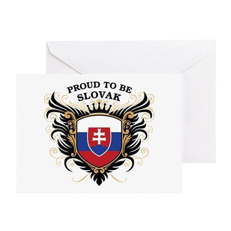 Proud to be Slovak Greeting Card