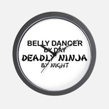 Belly Dancer Deadly Ninja Wall Clock