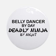Belly Dancer Deadly Ninja Ornament (Round)