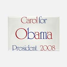 Carol for Obama 2008 Rectangle Magnet
