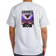 Airbrone Mom Ash Grey T-Shirt