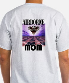Airbrone Mom Ash Grey T-Shirt