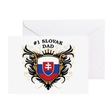 Number One Slovak Dad Greeting Card