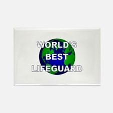 World's Best Lifeguard Rectangle Magnet