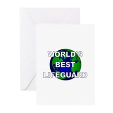 World's Best Lifeguard Greeting Cards (Pk of 10)