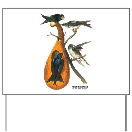 Audubon Purple Martins Bird Yard Sign